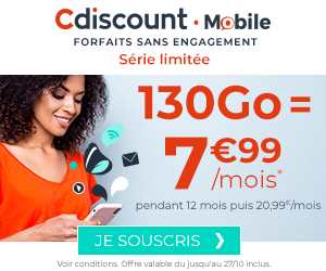 CDiscount Mobile 130Go